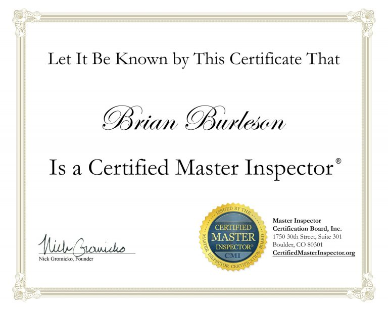 NH Certified Master Inspector